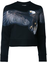 Neil Barrett Eagle Print Sweatshirt Black