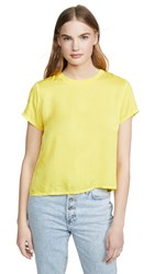 Nation Ltd. Ltd Marie Sateen Boxy Cropped Tee Canary