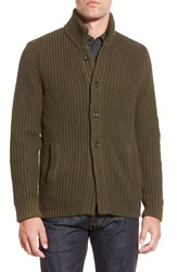 Bonobos Button Front Cotton Sweater Green