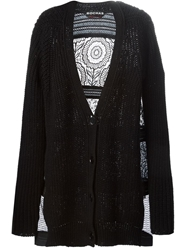 Rochas Panelled Lace Cardigan Black
