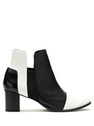 Gloria Coelho Panelled Leather Ankle Boots 60