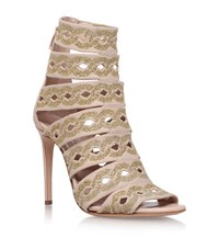 Casadei Chain Knit Caged Heels 100 Female Nude