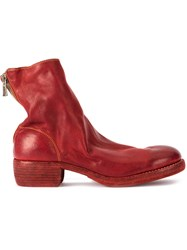 Guidi Soft Zipped Boots Red