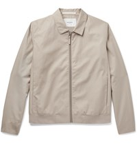 Norse Projects Trygve Cotton Canvas Blouson Jacket Beige