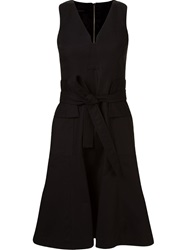 Giuliana Romanno Belted A Line Dress Black