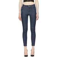 Dolce And Gabbana Blue 'Queen' Skinny Jeans