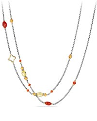 David Yurman Spring Bead Layering Necklace 40' Carnelian