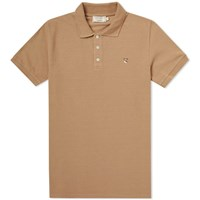 Maison Kitsune Fox Head Embroidery Polo Neutrals