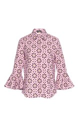 Holly Fulton Barbara Ruffle Shirt Pink