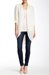 Painted Threads Pleat Tuck Cocoon Cardigan Beige