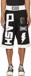Ktz Black Clash Appliqu Shorts