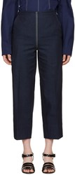 Cedric Charlier Blue Front Zip Jeans
