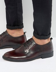 New Look Derby Shoes In Burgundy Burgundy Red