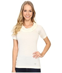 Arc'teryx A2b Top Vintage Ivory Women's Short Sleeve Pullover White