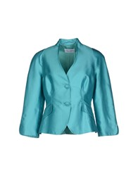 Caloma Suits And Jackets Blazers Women Turquoise