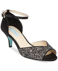 Blue By Betsey Johnson Rita Ankle Strap Evening Sandals Women's Shoes Black