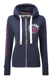Superdry Track And Field Zip Hoodie Blue