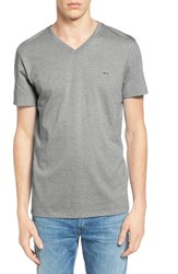 Lacoste Men's Pima T Shirt Silver Chine