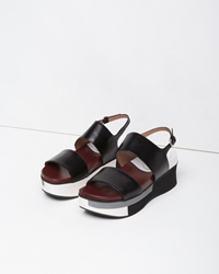Marni Two Strap Wedge Coal