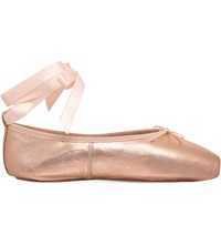 Opera National De Paris Preston Pointe Metallic Leather Ballet Flats Bronze