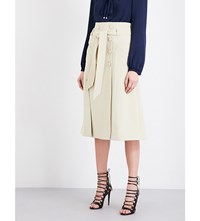 Prabal Gurung Safari A Line Skirt Khaki