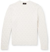 Dunhill Cable Knit Cashmere Sweater Off White