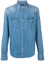 Belstaff Chest Pocket Denim Shirt Blue
