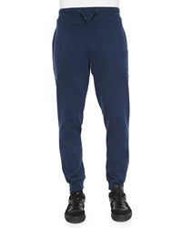 Orlebar Brown Tapered Cotton Sweatpants Navy