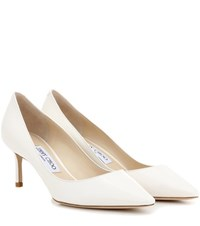 Jimmy Choo Romy 60 Patent Leather Pumps White