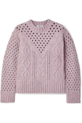 Sea Cora Cable Knit Sweater Lavender
