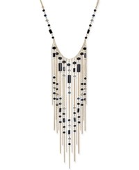 Inc International Concepts Gold Tone Beaded Fringe Statement Necklace Only At Macy's Jet