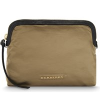 Burberry Large Nylon Pouch Gold
