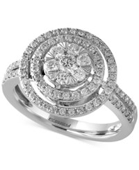 Effy Final Call Diamond Double Halo Ring 3 4 Ct. T.W. In 14K White Gold
