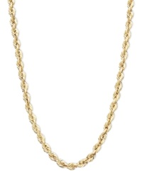 Macy's 14K Gold Necklace 20' Hollow Rope Chain