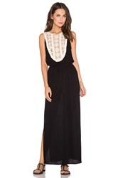 Liv Arianna Applique Maxi Dress Black