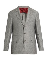 Brunello Cucinelli Linen Jacket Grey