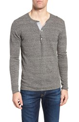 Billy Reid Heirloom Cotton And Cashmere Henley Grey