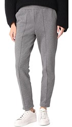 Alexander Wang T By Dry French Terry Pull On Sweats Heather Grey