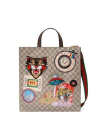 Gucci Courier Soft Gg Supreme Tote Bag Beige