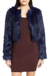 Fire Women's Faux Fur Jacket Blue