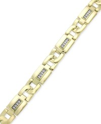 Macy's Men's Diamond Link Bracelet 1 5 Ct. T.W. In 10K Gold Yellow Gold
