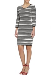 Women's Catherine Catherine Malandrino 'Miriam' Pattern Stripe Sweater Dress