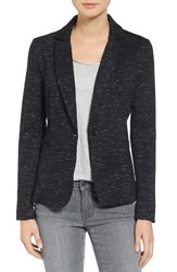 Olivia Moon Women's Knit Blazer Black Spacedye