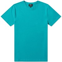 A.P.C. Washed Crew Tee Blue