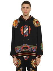 Dolce And Gabbana Printed Cotton Jersey Sweatshirt Hoodie Array 0X57e9368