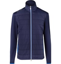 Rlx Ralph Lauren Quilted Shell And Wool Blend Golf Jacket Blue