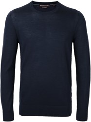 Michael Kors Crew Neck Jumper Blue