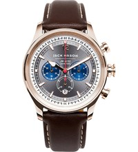 Jack Mason Jm N102 026 Nautical Chronograph Stainless Steel And Leather Watch