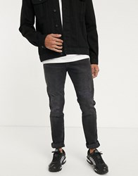 Celio Slim Jeans In Grey With Distress