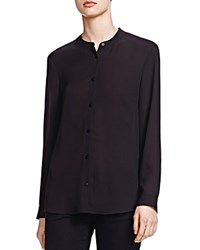 The Kooples Crepe Button Up Shirt Black